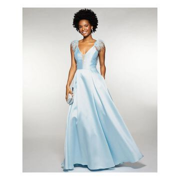 SPEECHLESS Light Blue Spaghetti Strap Full-Length Dress 5