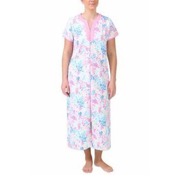Miss Elaine Long Knit Zipper Robe