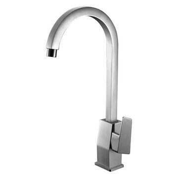 ALFI brand AB3470-BN Brushed Nickel Gooseneck Single Hole Bathroom Fau