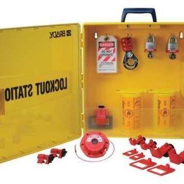 BRADY 105941 Lockout Station,Electrical,6 Locks