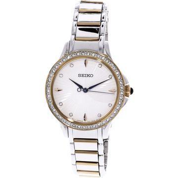 Seiko Women's SRZ486 Silver Stainless-Steel Quartz Dress Watch