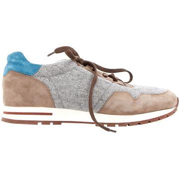 Loro Piana Grey Cloth Trainers