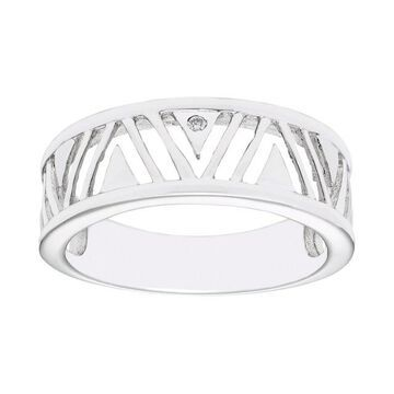 Boston Bay Diamonds Sterling Silver Diamond Accent Trident Ring