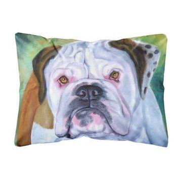 Miss English Bulldog Fabric Decorative Pillow