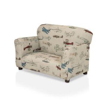 Furniture of America Gariloch Upholstered Kids Loveseat