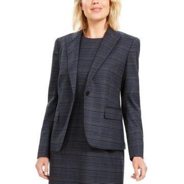 Anne Klein Plaid Blazer