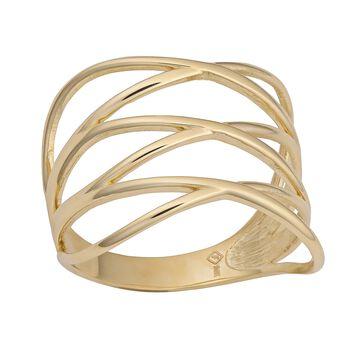 Fremada 14k Yellow Gold Women's Highway Ring