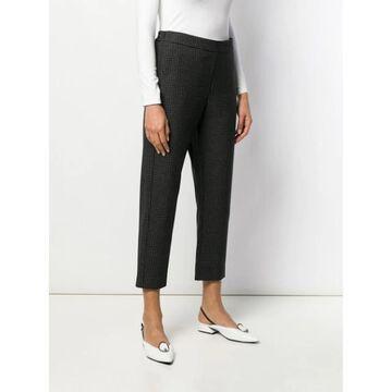 Piazza Sempione Womens Black Check Straight leg Pants Size 48 Waist - 48 Waist