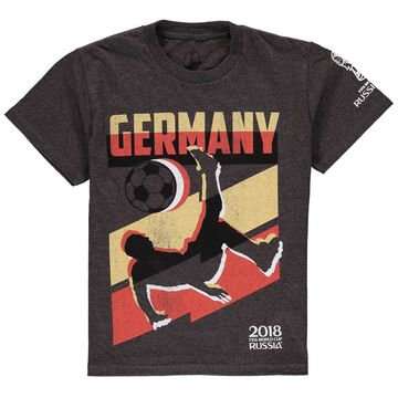 Germany National Team Youth Jagged Line World Cup T-Shirt - Heathered Charcoal