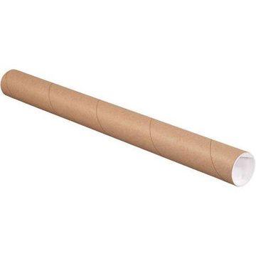2 x 24 Mailing Tubes - Brown Kraft (250 Qty.)