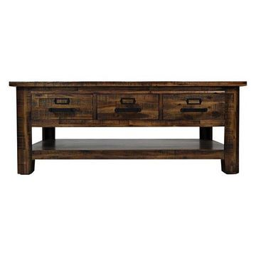 Jofran Cannon Valley 3 Drawer Cocktail Table