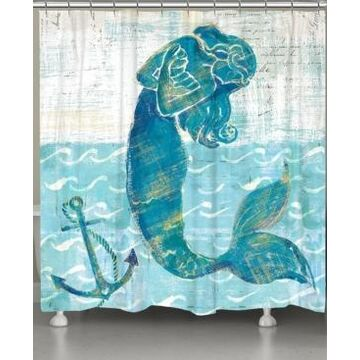 Laural Home Mermaid of the Seven Seas Shower Curtain Bedding