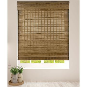 Arlo Blinds Dali Native Cordless Lift Bamboo Roman Shades with 60 Inch Height