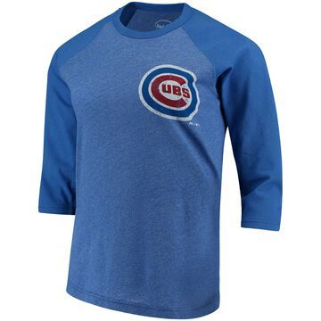 Women's Majestic Threads Anthony Rizzo Royal Chicago Cubs Name and Number Three-Quarter Sleeve T-Shirt
