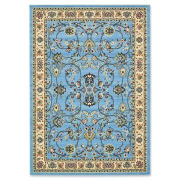 Unique Loom Sialk Hill Washington 7' x 10' Area Rug in Light Blue
