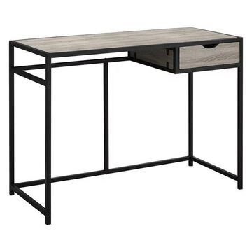 Monarch Writing Desk in Dark Taupe and Black