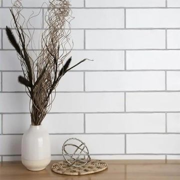 SomerTile 3x12-inch Gloucester Matte Bianco Ceramic Wall Tile (22 tiles/5.5 sqft.)