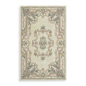 Rugs America New Aubusson 5-Foot x 8-Foot Rectangular Rug in Ivory