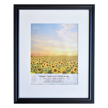 Black Large Frame With Mat, Lifestyles By Studio Decor