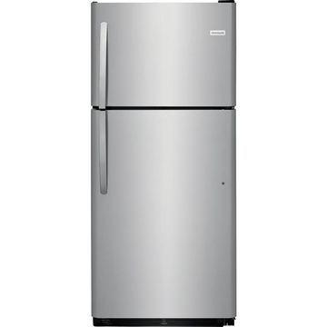 Frigidaire 20.4-cu ft Top-Freezer Refrigerator (Stainless Steel)