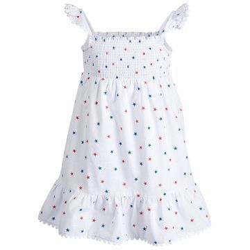 Little Girls Smocked Star-Print Cotton Dress, Created for Macy's