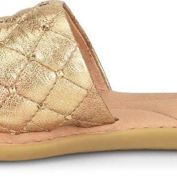 Born Womens Brucite Leather Open Toe Casual Slide Sandals