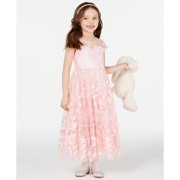 Toddler Girls Floral Embroidered Maxi Dress