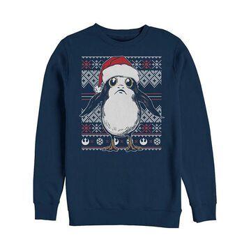 Fifth Sun Men's Sweatshirts and Hoodies NAVY - Star Wars Navy Santa Porg Crewneck Sweatshirt - Men