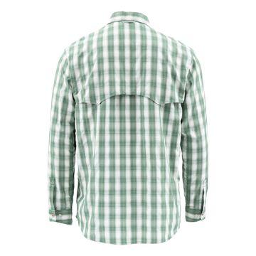 Simms Men's Big Sky Long Sleeve Shirt Evergreen Plaid; M