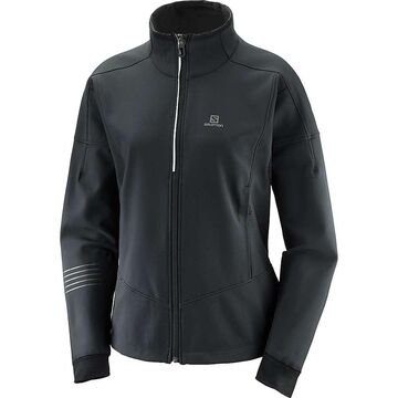 Salomon Women's Lightning Warm Softshell Jacket - Large - Black