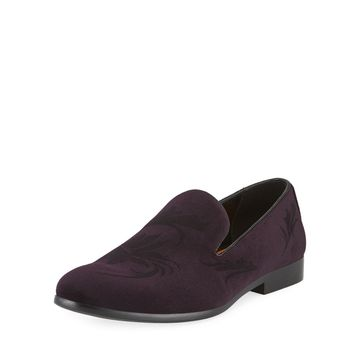 Men's Tedaldo Velvet Slip-On Loafers