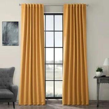 Exclusive Fabrics Marigold Blackout Curtain Thermal Panel Pair (50 X 108 - Marigold)