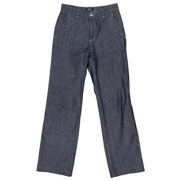 Apc \N Blue Cotton Jeans