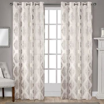 Exclusive Home Augustus Metallic Window Curtains