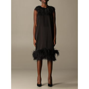 Gianluca Capannolo Dress With Feathers