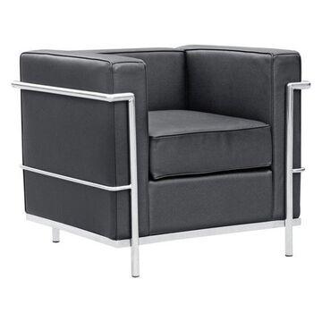 Fine Mod Imports Cube LC2 Petit Chair, Black