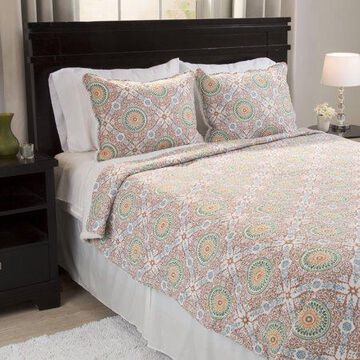 Somerset Home 3pc Emilia Reversible Quilt Set with Sherpa