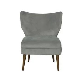HomePop Modern Wingback Accent Dining Chair (Grey)