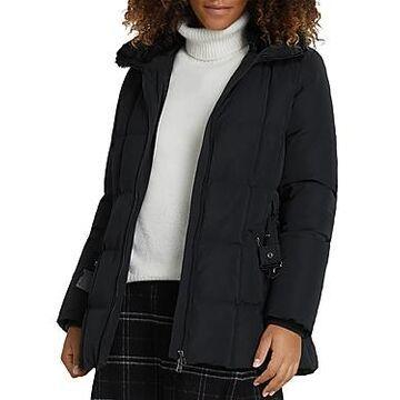 Woolrich Blizzard Faux Fur Collar Belted Coat