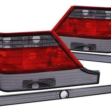 Anzo USA Euro Tail Lights in Red/Smoke, Euro Tail Lights - 221154