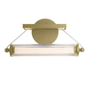 Libra LED Sconce by Hubbardton Forge - Color: Clear - Finish: Glossy - (209105-1006)