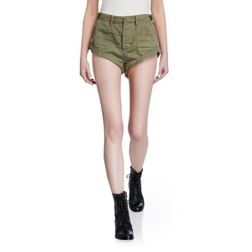 Military Bandits Raw-Edge Double Cuff Shorts