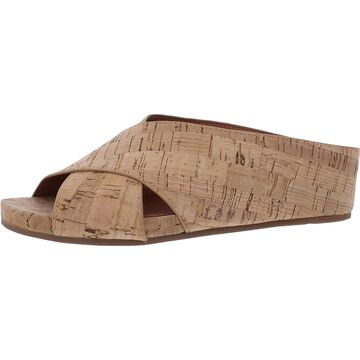 Gentle Souls by Kenneth Cole Womens Gisele X-Band Slide Slide Sandals Leather