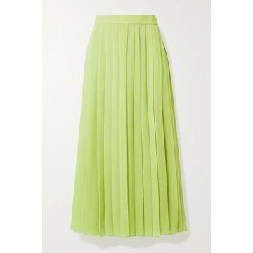 The Row - Magda Pleated Chiffon Midi Skirt - Yellow