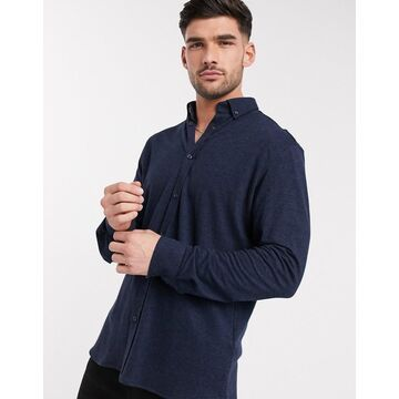 Selected Homme knitted shirt navy