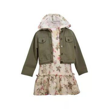 Bonnie Jean Girls' Girls 4-6X 2Fer Hoodie Dress With Sweater - -