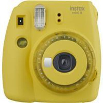 Fujifilm instax mini 9 Instant Film Camera with Clear Accents, Yellow