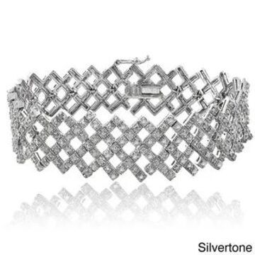 DB Designs 2ct TDW Diamond Criss-cross Bracelet