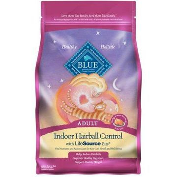 Blue Buffalo Indoor Hairball Control Adult Dry Cat Food, Chicken & Brown Rice Recipe, 3-lb