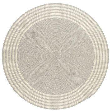 Colonial Mills Narragansett Reversible Wool Rug, Grey, 6X8 Ft
